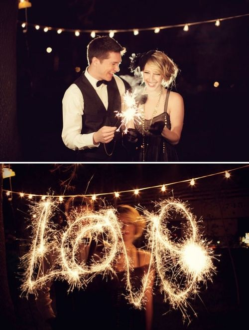 1920s-inspired and sparklers... Can't go wrong.