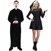 Couples Halloween costume ideas for men and women. Here are more than 100 Halloween Costume Ideas just for couples!  sc 1 st  Pinterest & Priest and Nun Couples Costumes | FALL/HALLOWEEN | Pinterest ...