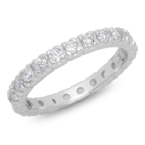 Moderner Silberring Mit Zirkonia Rhodiniert Ring Mit Stein Damen Ring Ringe Silber