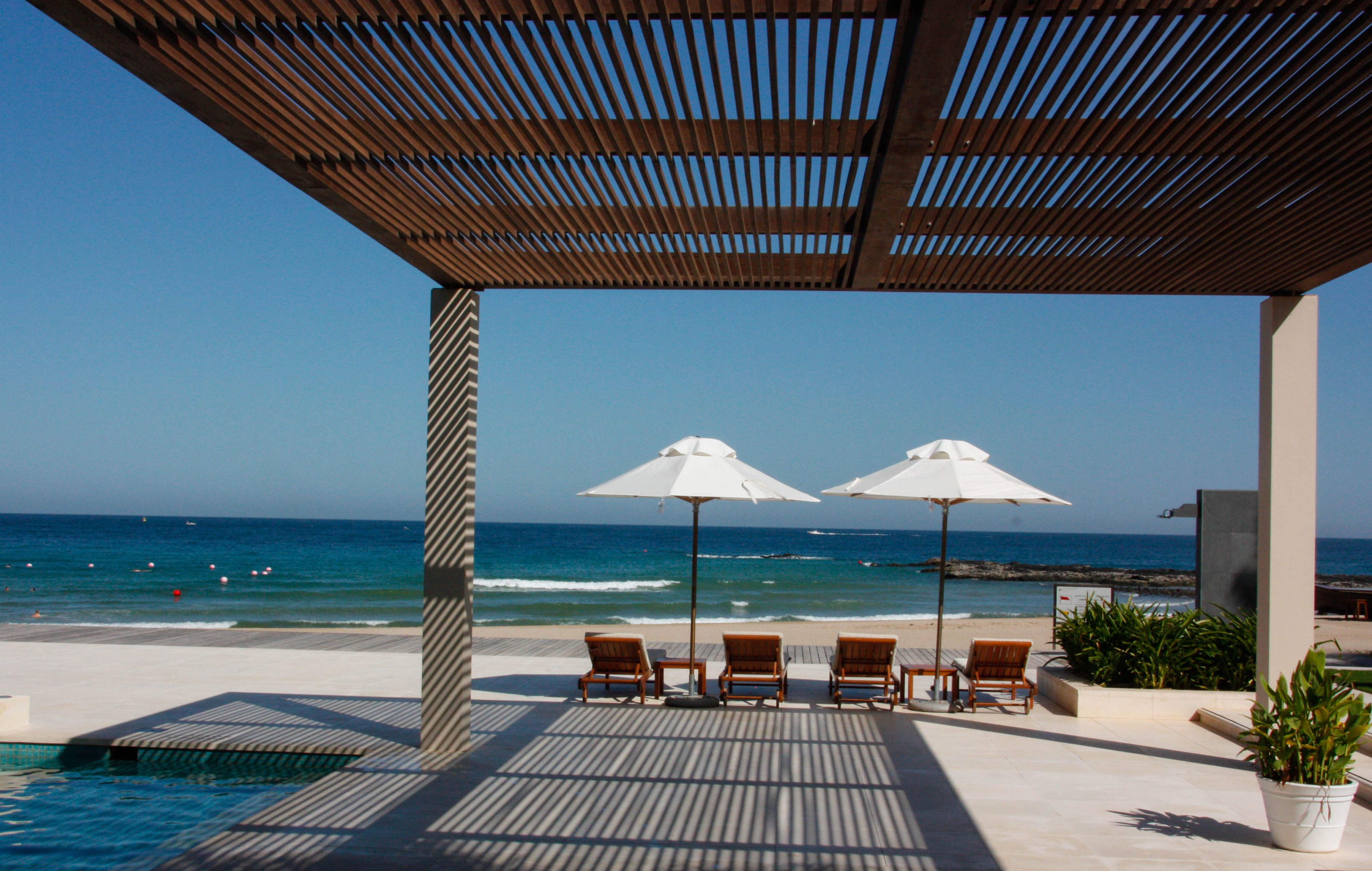 Sensational Wooden Pergola Cover With Pool Shade And White Patio Umbrellas  Featu2026
