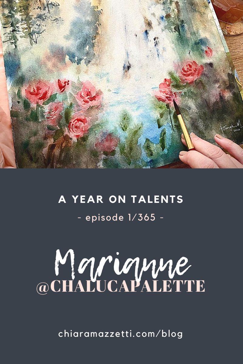 Art blog series featuring talented people #artblog #art #artist #watercolorarts
