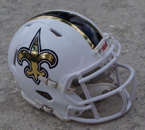 Riddell Revolution Original Speed Helm NFL New Orleans Saints Footballhelm