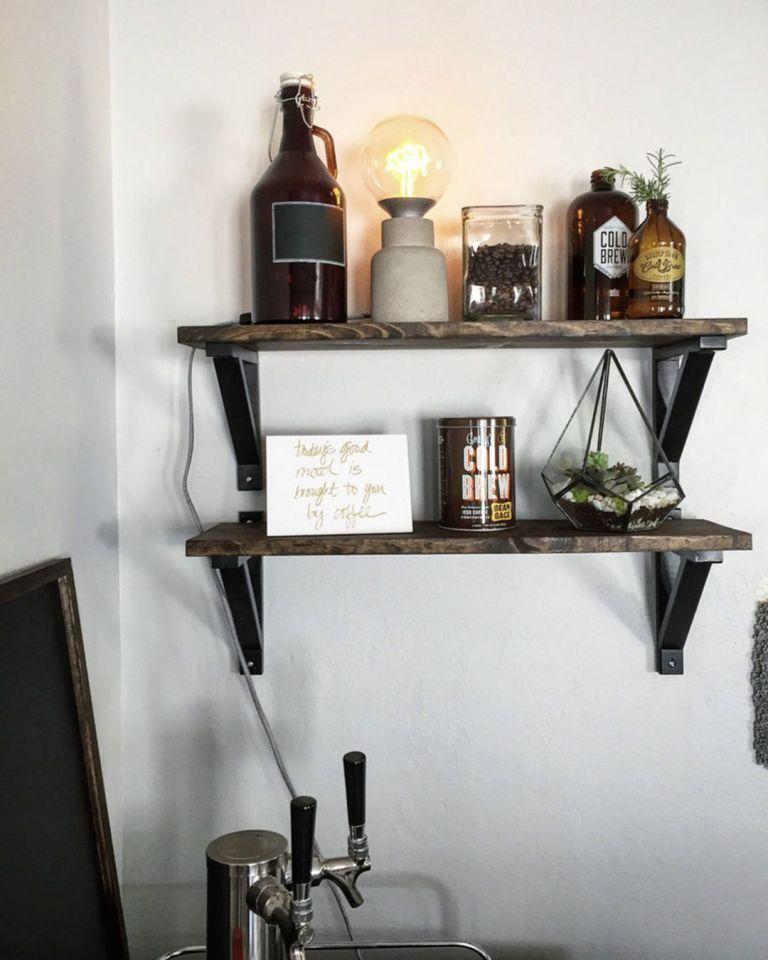 Chic Diy Industrial Shelves Ideas Dengan Gambar