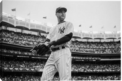 Derek Jeter of the New York Yankees - last game he played 2014 - would look good on paper with a white matte and black frame