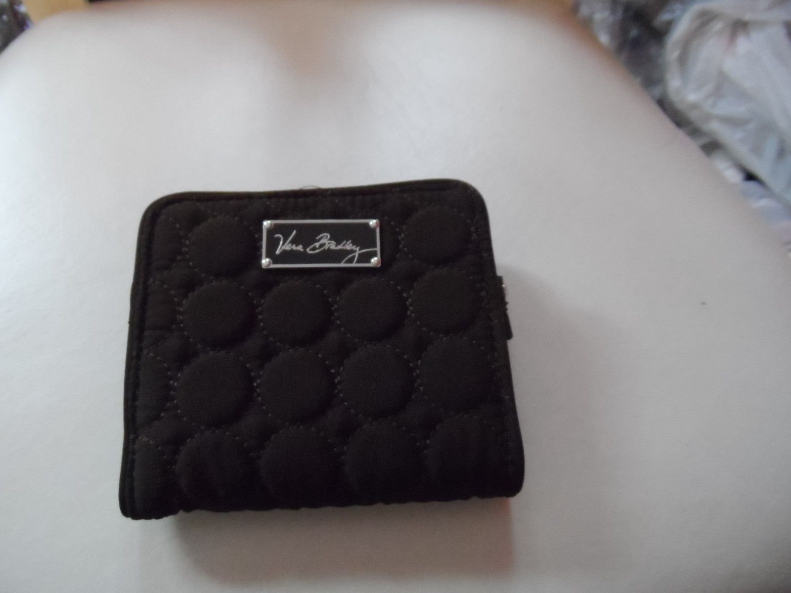 19.99$  Buy now - http://vipik.justgood.pw/vig/item.php?t=3c919ii43593 - Vera Bradley Espresso BROWN MICROFIBER ALL IN ONE WALLET with BAROQUE LINING 19.99$