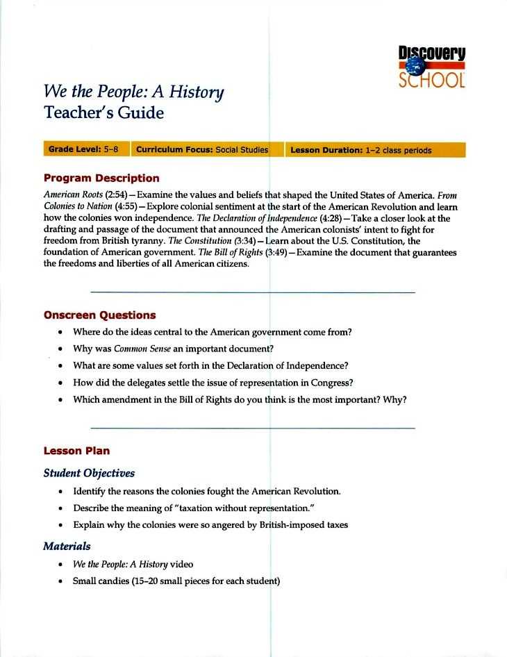 These Copies of American History Lessons did not turn out great but - lesson plan objectives