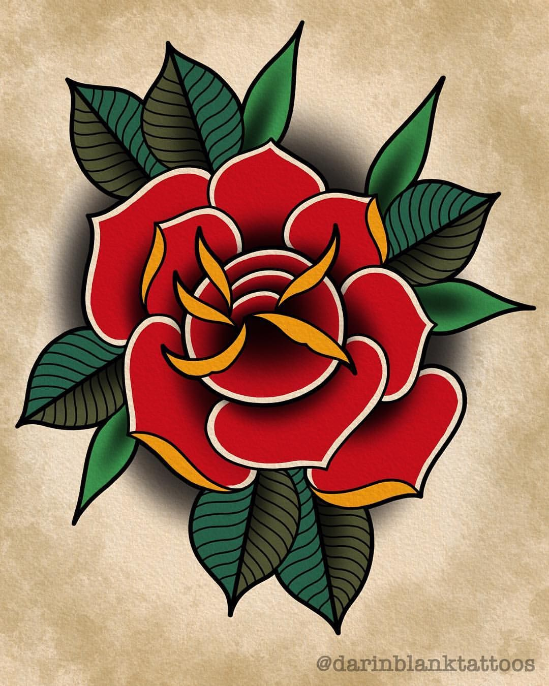 Traditional Rose I Made On The Ipad Pro Today Available Darinblanktattoos Gma Traditional Tattoo Stencils Traditional Rose Tattoos Traditional Tattoo Flowers