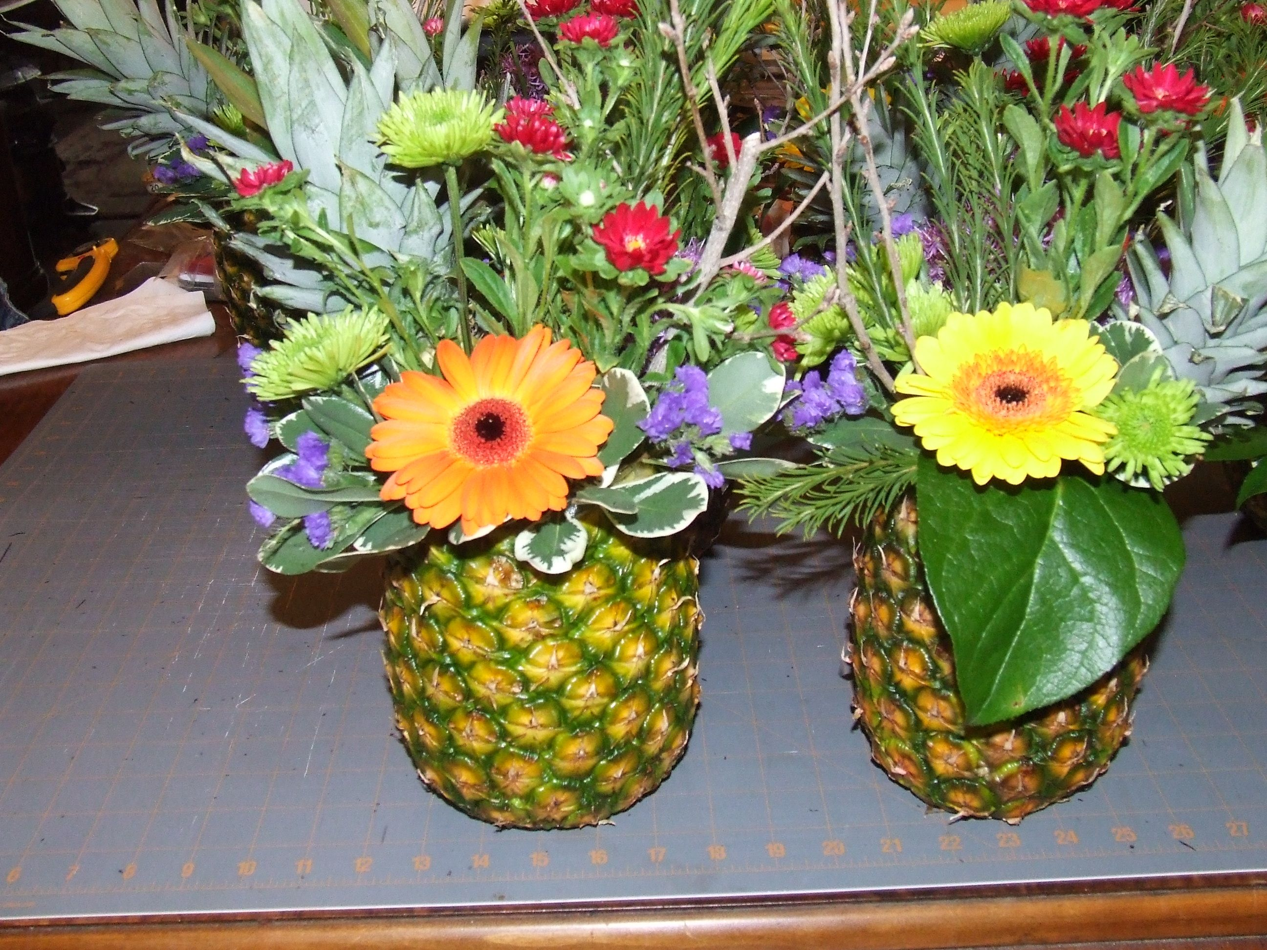 Carribean themed centerpiece trust all went well for the