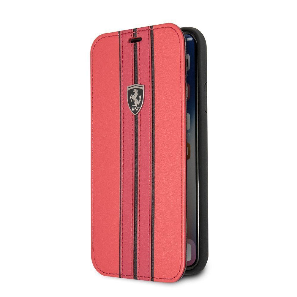 cg leather phone genuine mobile red case pin x ferrari by cell iphone