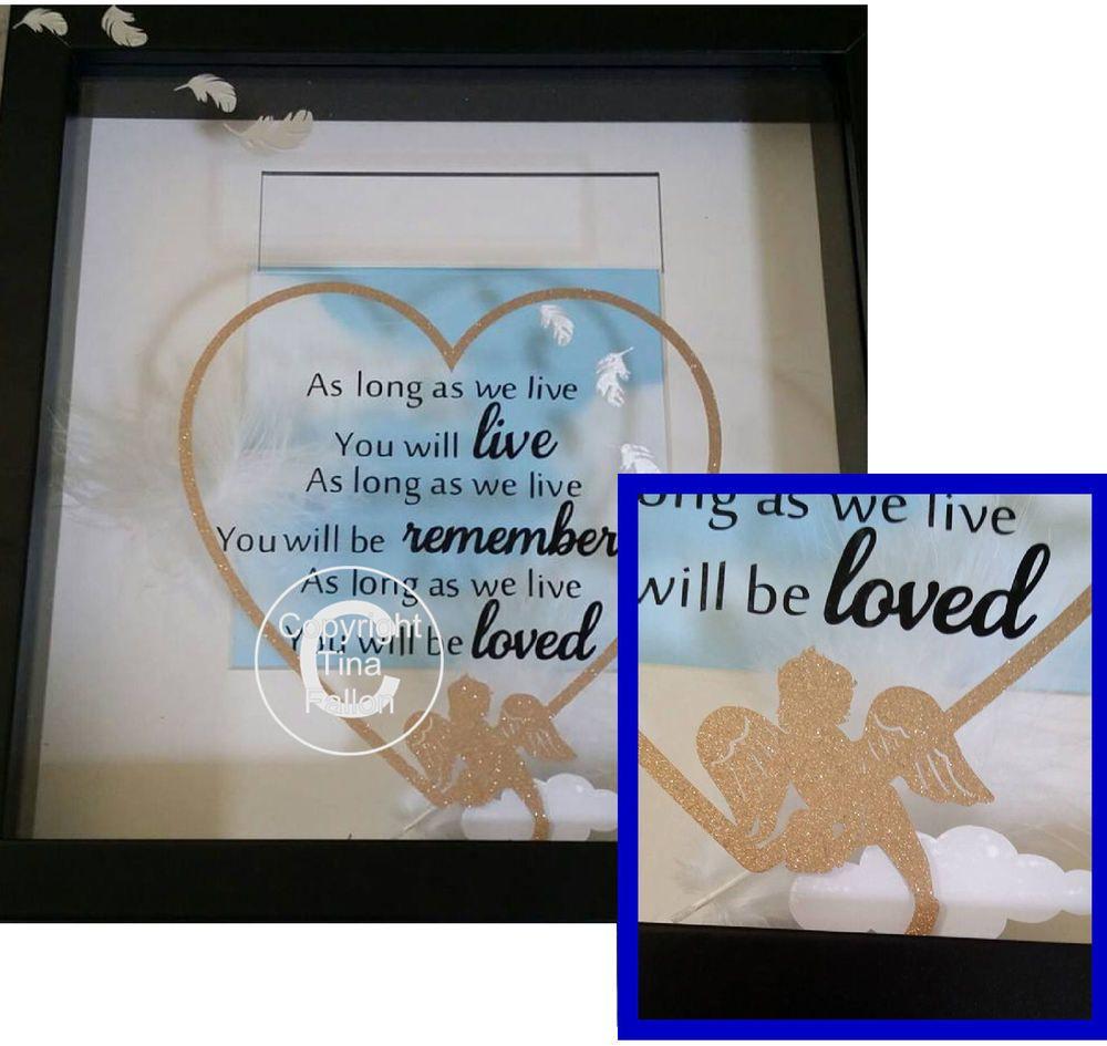 As long as we live - baby memory, bereavement, angel wings, angel baby.