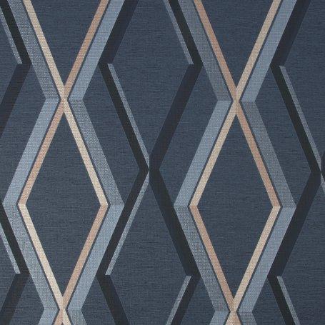 Wallpaper Designer Metallic Gold Interlocking Geometric Chain on Gold Texture