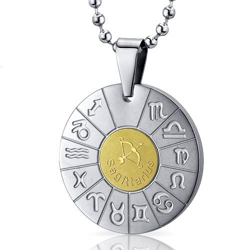 Peora.com - Sagittarius Archer Sign Zodiac Symbol Steel Circle Pendant SN10154, $19.99 (http://www.peora.com/sagittarius-archer-sign-zodiac-symbol-stainless-steel-circle-pendant-necklace-style-sn10154/)