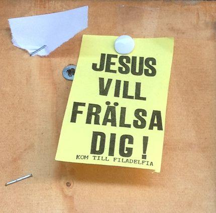 Jesus vill frälsa dig. På Filadelfia.