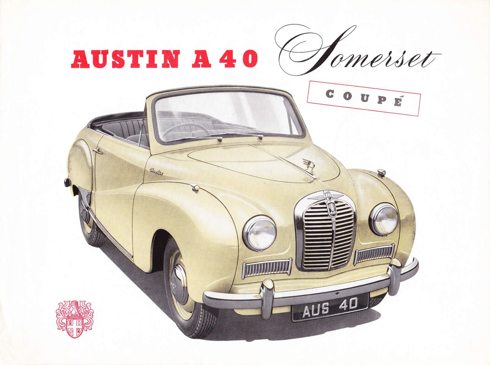Austin A40 Somerset Coupe 1952 Vintage Car Ads Board 2