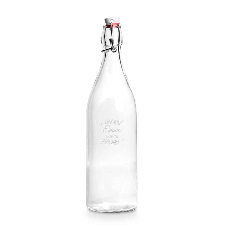 Personalised Glass Water Bottle With Bracket Bottle Water Bottle Glass Water Bottle
