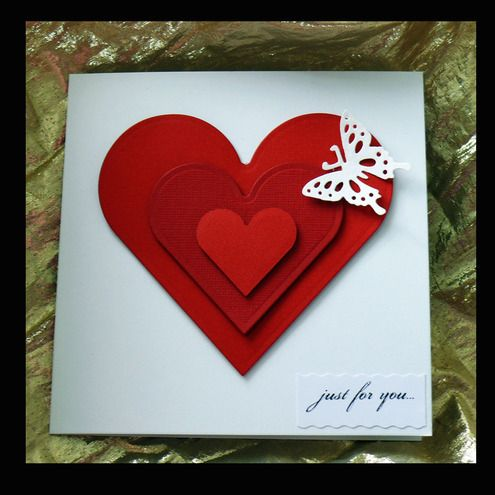 Luxury handmade valentines day cards homemade for Valentines day card making ideas