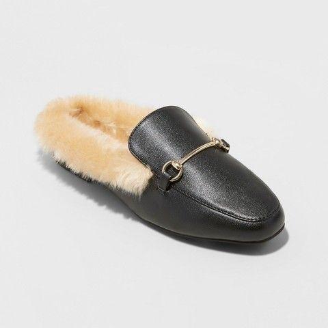 79055662842c Pieces Leather Mule Backless Loafer Women black La Sortie Pas Cher Vente À  La Mode Clairance