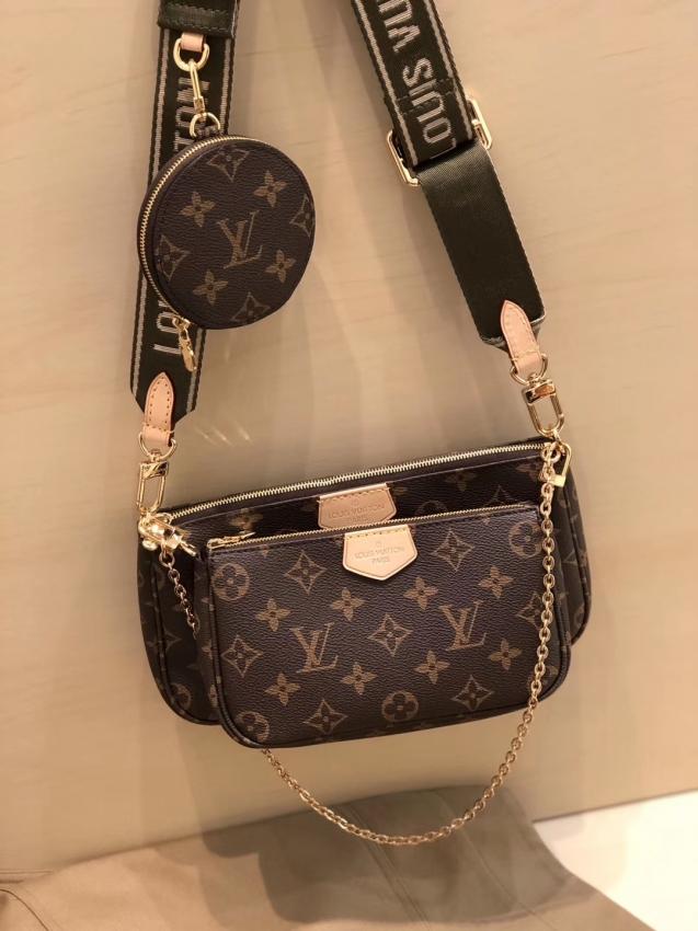Louis Vuitton Monogram Multi Pochette Accessoires Coin Purse M44813 Khaki,  #Accessoires #Coi…