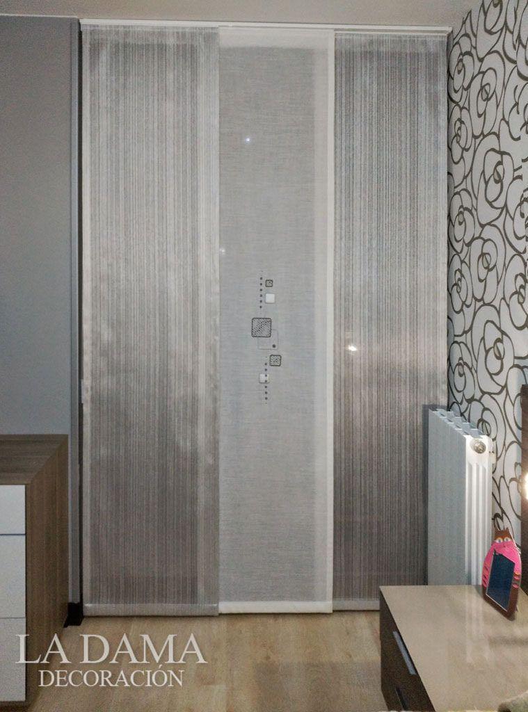 Panel japon s para puerta comedor dinning room - Cortinas para miradores ...