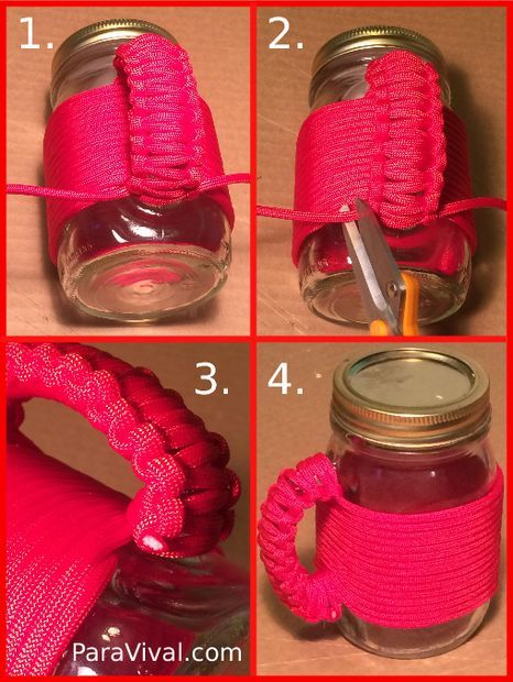 Paracord Wrapped Mason Jar Mug Paracord Stuff Pinterest