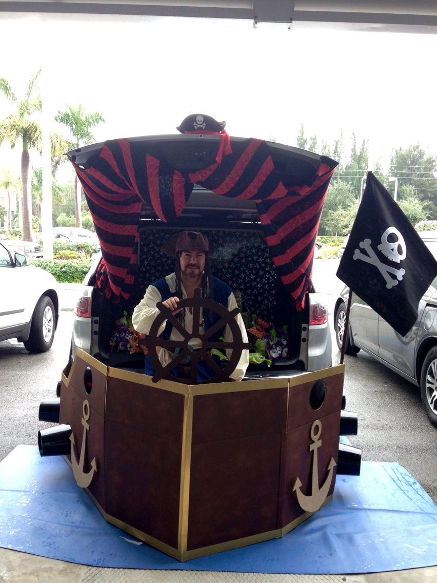 Pirate Ship Trunk O Treat Halloween Diy Cardboard Trunk Or