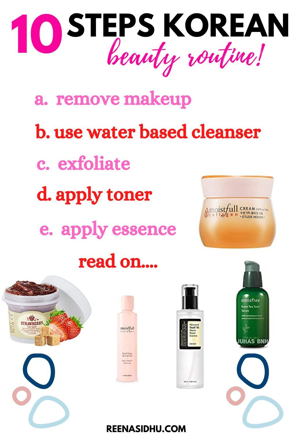 10 Steps Korean Beauty Routine. The ultimate 10 step system to achieve beautiful skin. #korean beauty tips #korean beauty tips skin care #korean beauty tips skincare routine #korean beauty