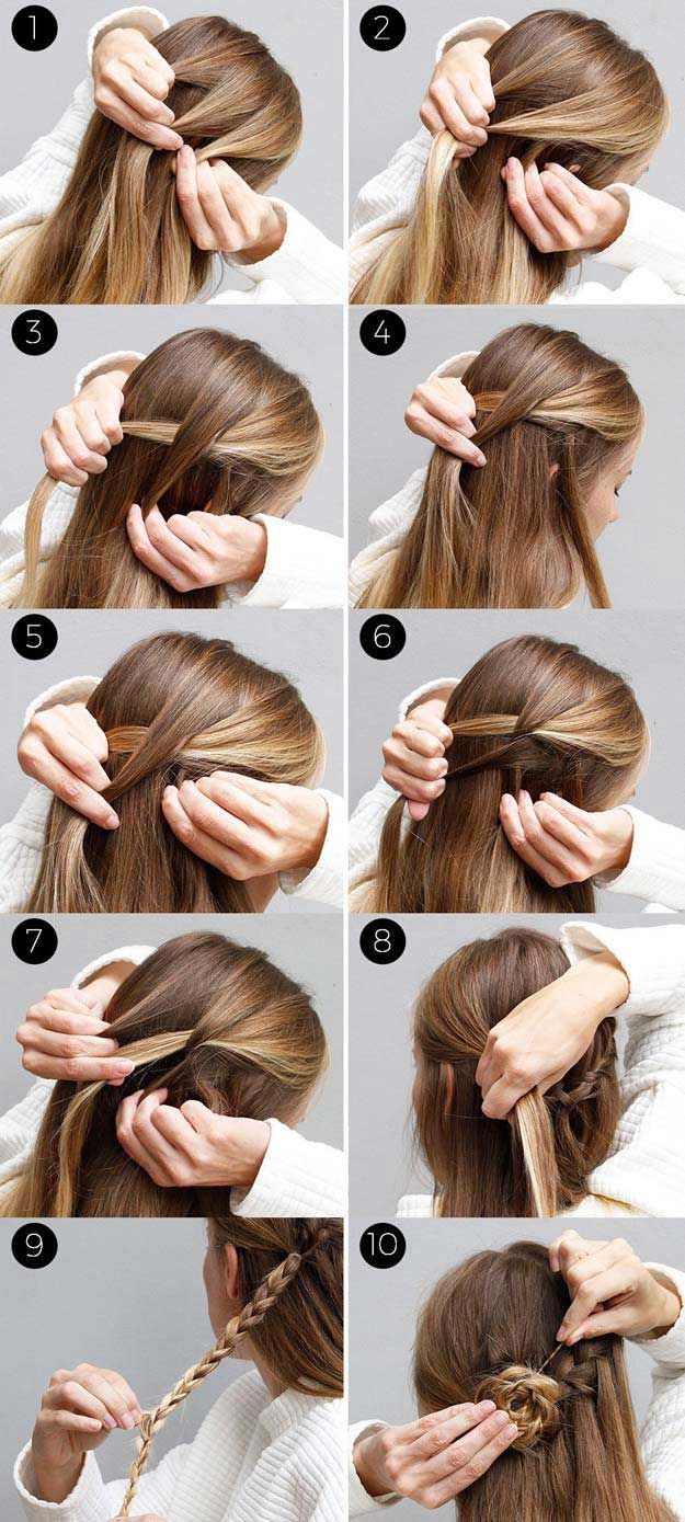 31 Amazing Half Up-Half Down Hairstyles For Long Hair | Half Ponytail Bun Styles And Half Bun