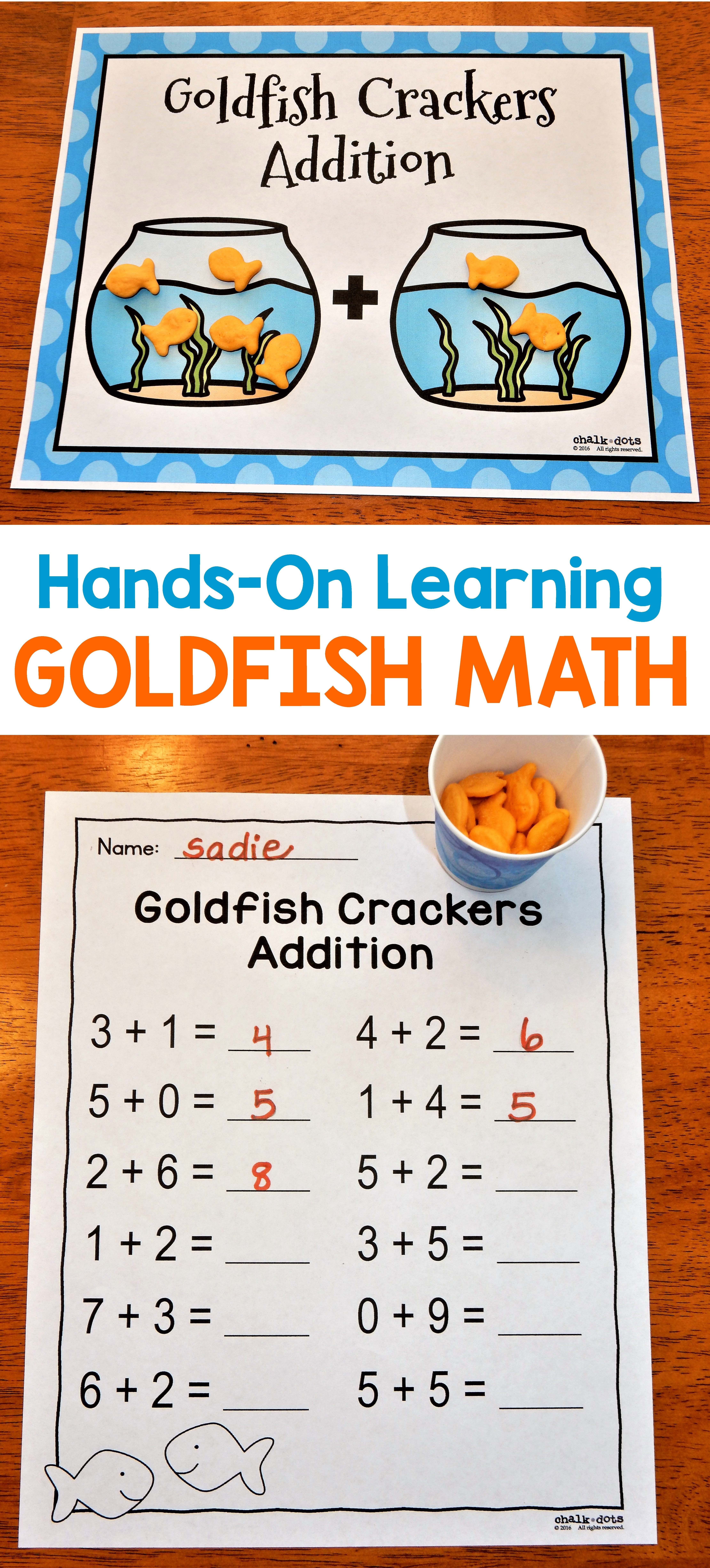 Goldfish Math Counting And Adding With Goldfish Crackers