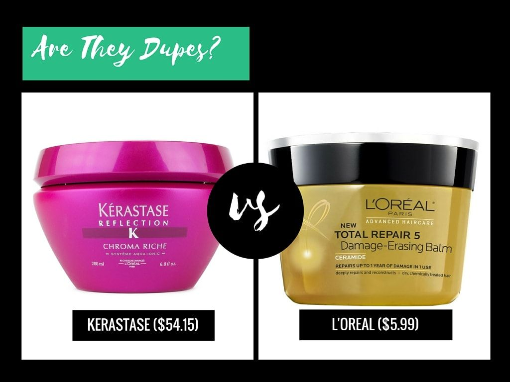 Kerastase Dupe! Both by Loréal, so no worries on the lack