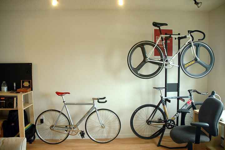 Picture Of Bike Rack For Apartment Perfect Solution To Hang Your In Stylish But Free E Use