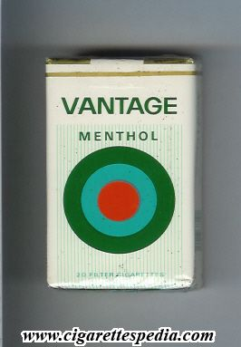 769f80d791 vantage old design menthol menthol in the middle from above ks 20 s usa