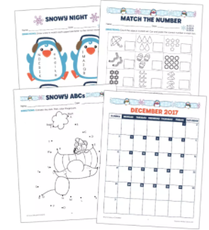 December Monthly Printable Collection Grade K