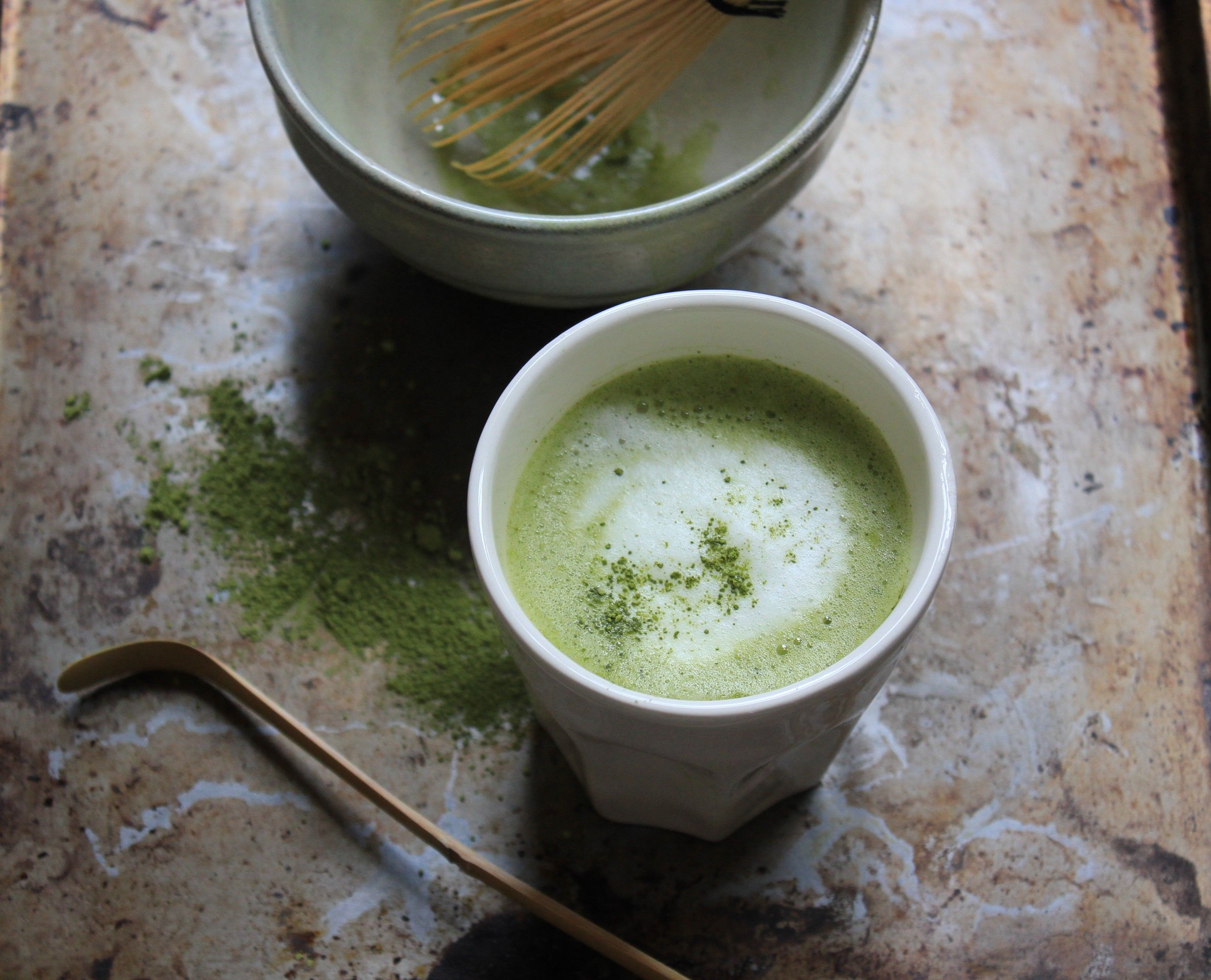 Jugetsudo S Matcha Is Made From A Green Tea Called Tencha The Tea Leaves That Are Covered A Few Weeks Before Harvest To Sto Matcha Green Tea Powder Matcha Tea