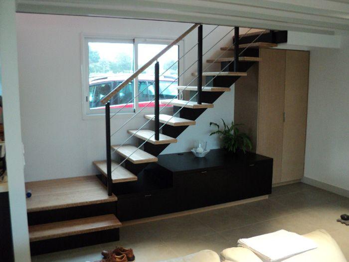gamme le dervenn escalier en bois et m tal potier escaliers noir blanc pinterest. Black Bedroom Furniture Sets. Home Design Ideas