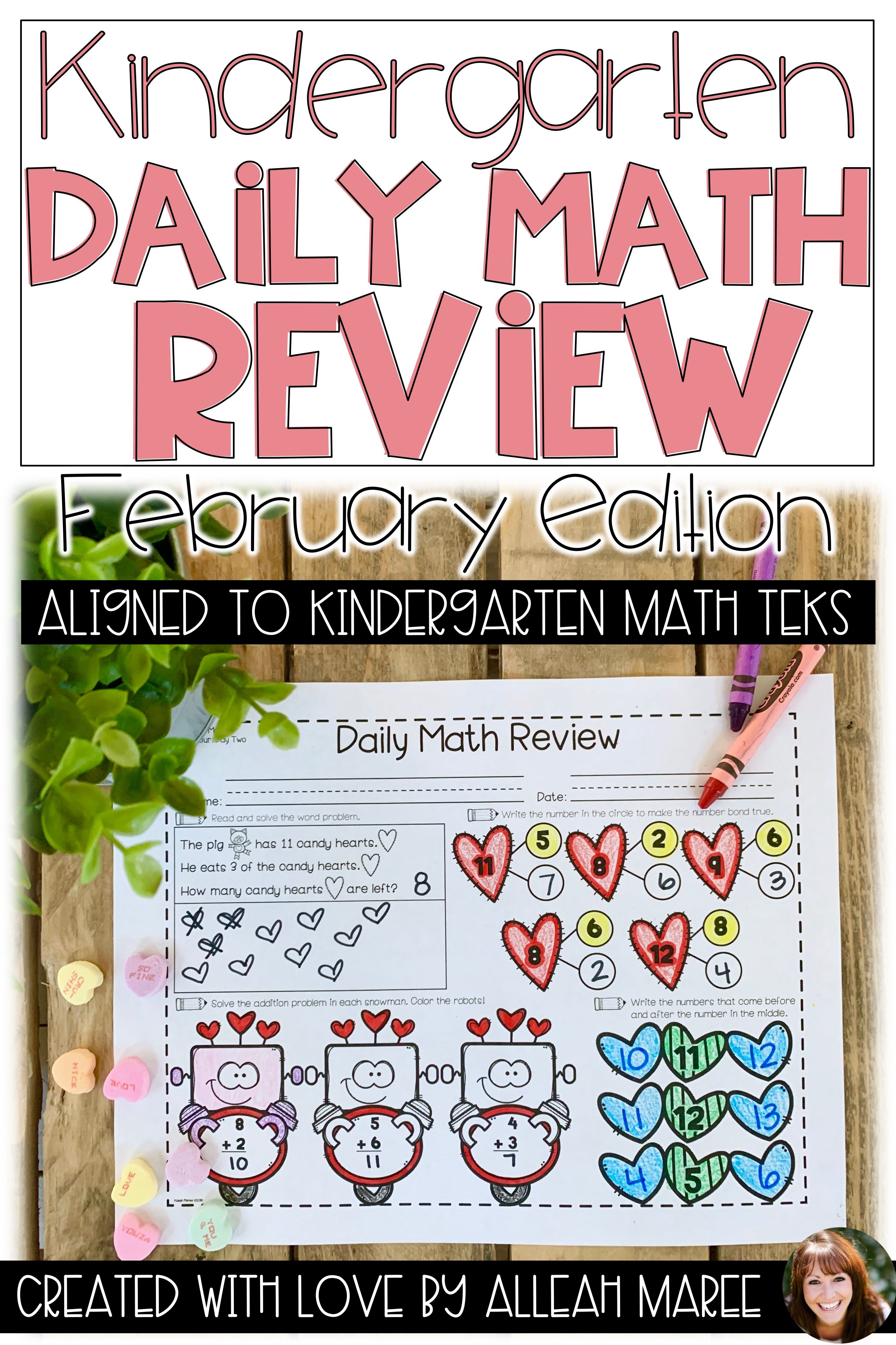 Kindergarten Daily Math Review For February Kindergarten Math Activities Daily Math Review School Holiday Activities [ 3999 x 2666 Pixel ]