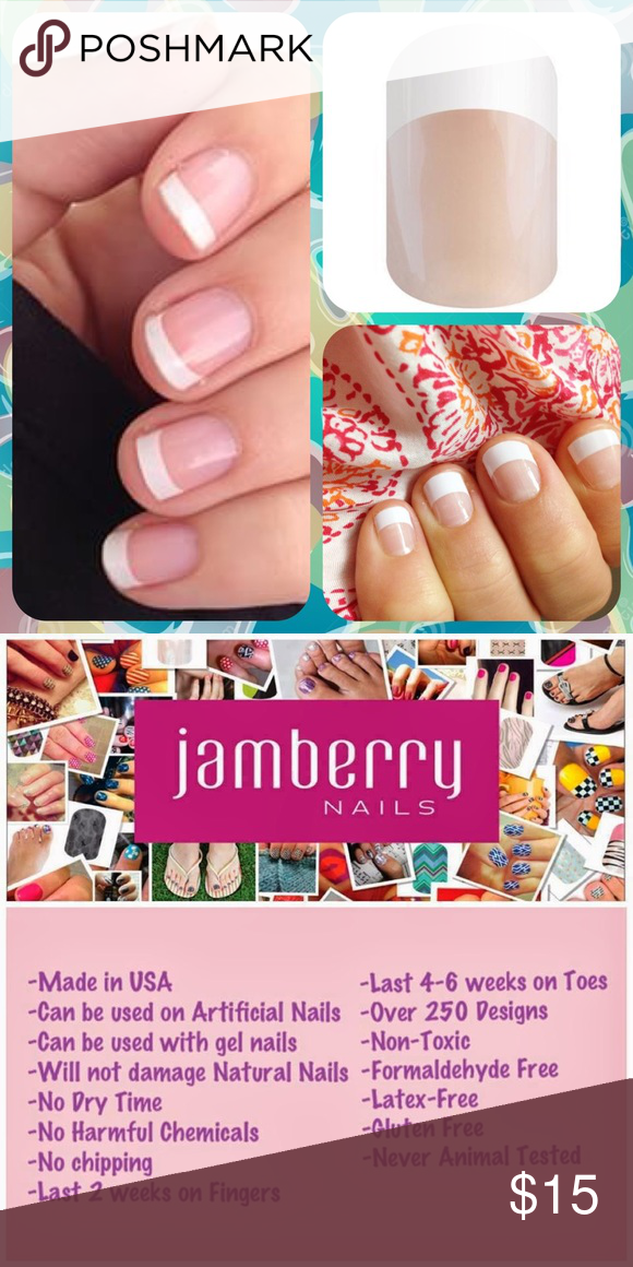 JAMBERRY White French Tip Manicure Nail Wraps Pack NWT | Classic ...