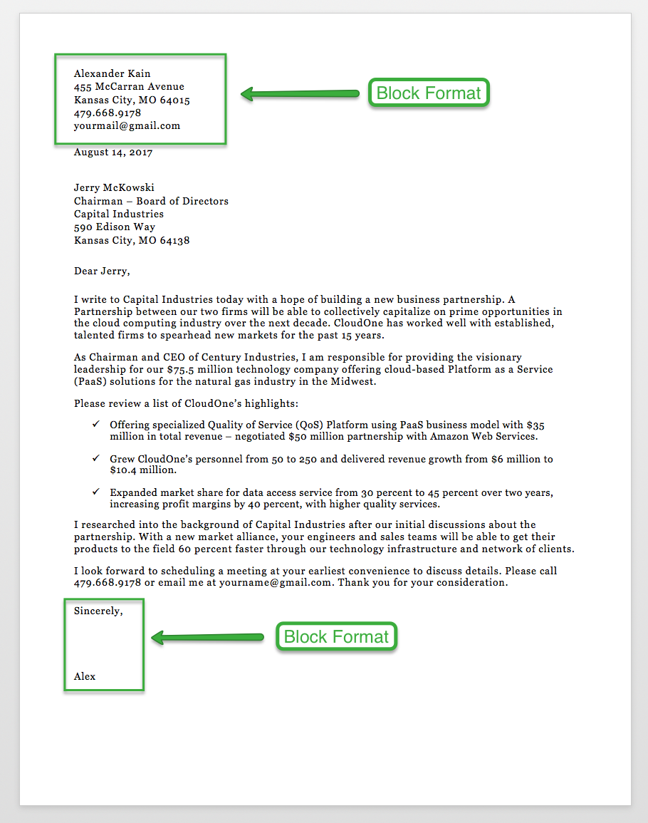 Business Letter Format BusinessLetterFormatSubject (With