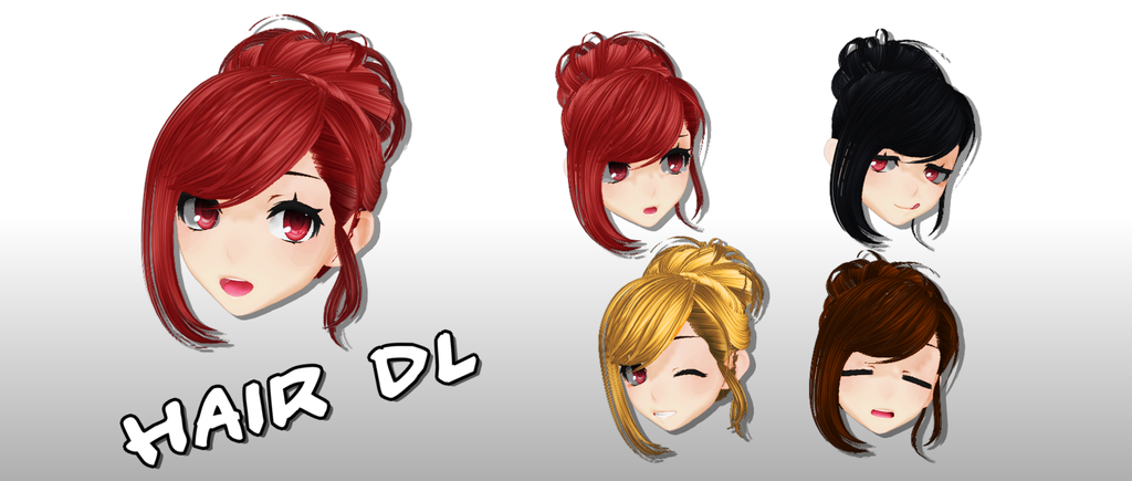 Mmd Hair Dl By Mary O O On Deviantart Mmd Hairdownload Hairanime