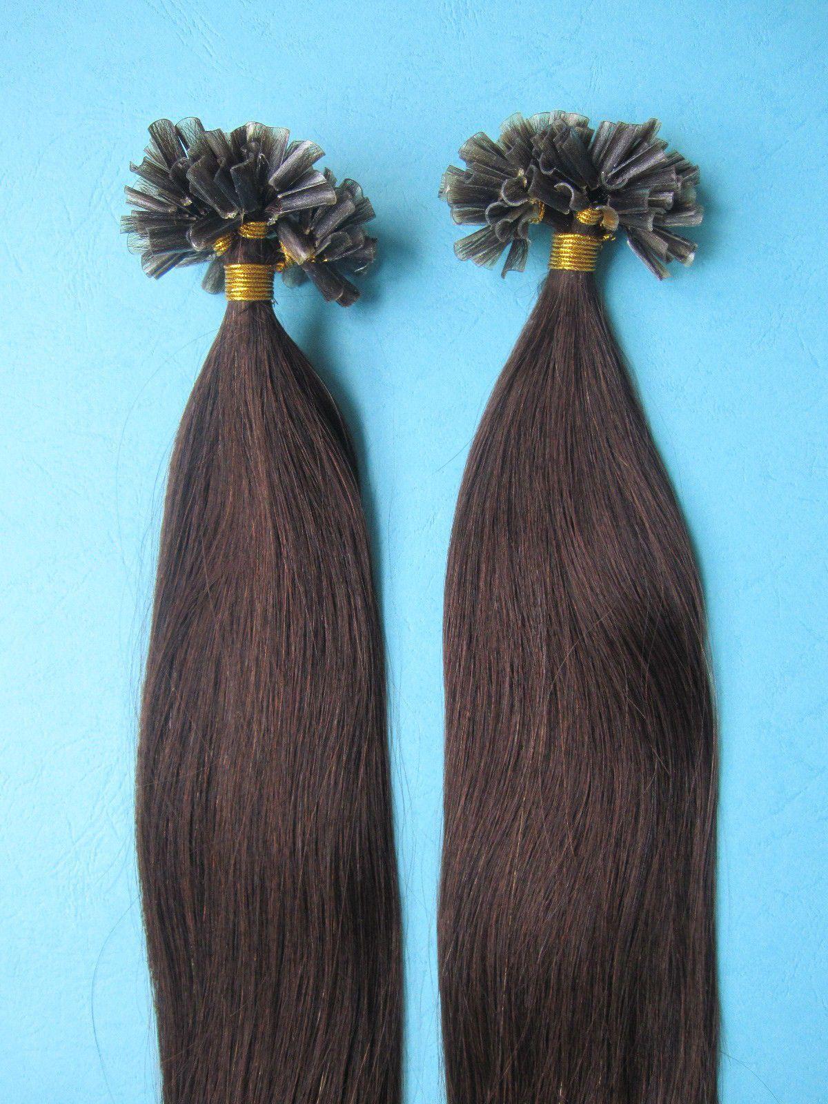 Remy 200s 18 02 Nail Tip 100 Real Human Hair Extensions 100grams