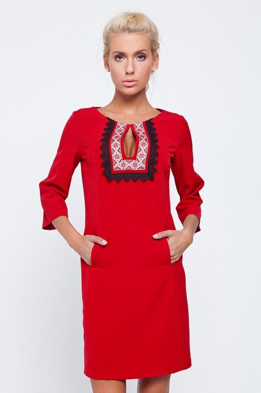 Womens Dress With Embroidery Design On Front Embroidery Designs