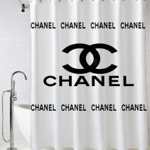Coco Chanel Inspired Shower Curtain Shower Curtain Cheap Shower
