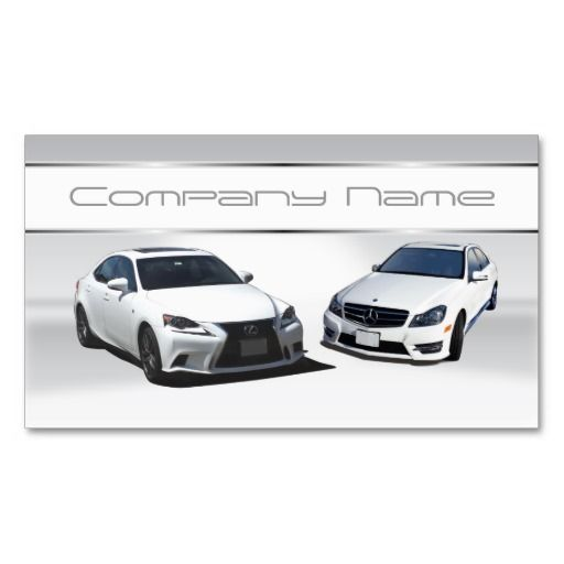 White Lexus And White Mercedes Benz Business Cards Business Card
