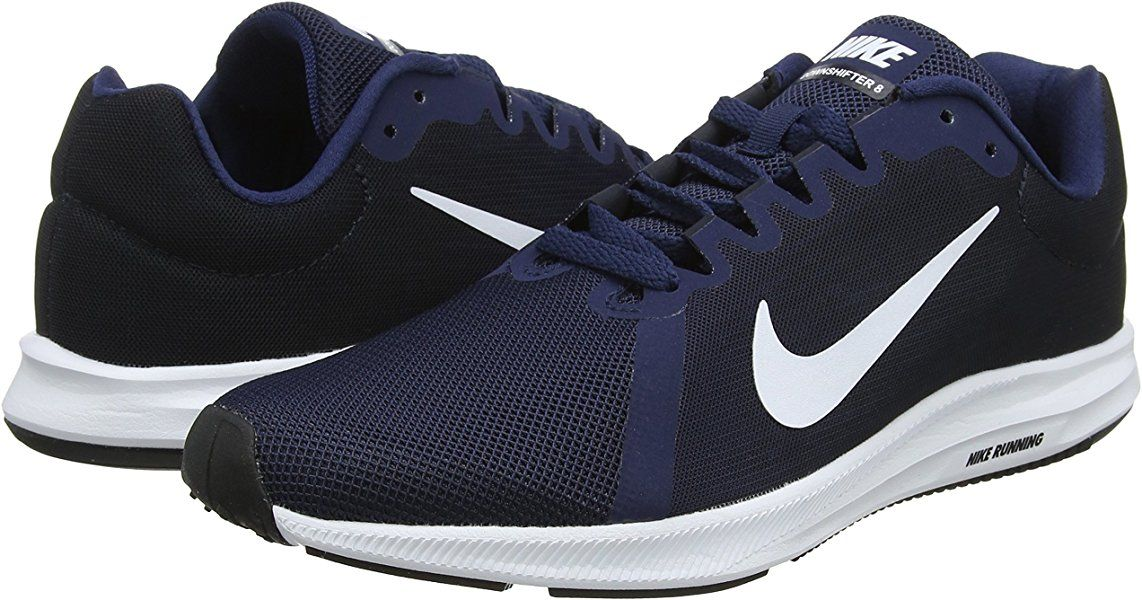 new product 92301 36989 Nike Downshifter 8, Chaussures de Running Homme, Bleu (Midnight Navy White-