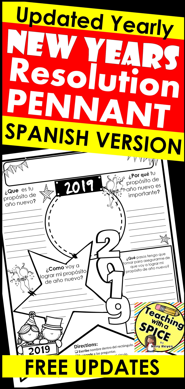 New Years Resolution Spanish Propositos De Ano Nuevo