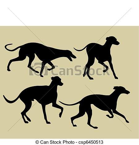 Galgos Perros Negros Dibujo De Perro Dibujos