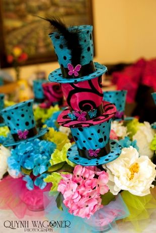 madhatter tea party alice in wonderland wedding birthday party bridal shower centerpiece