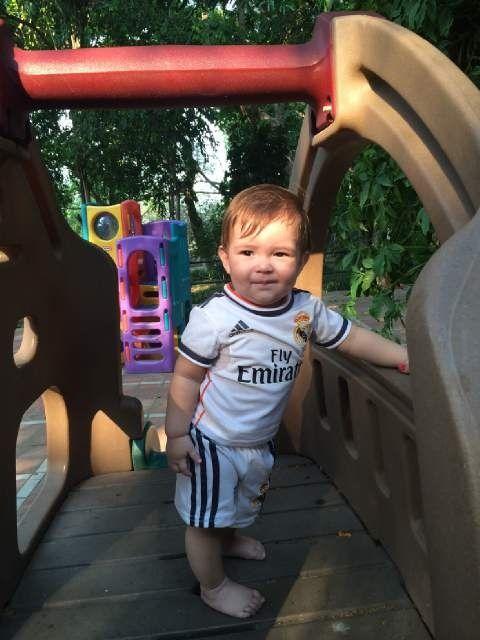 comprar el más nuevo sitio de buena reputación a juego en color Mi bebé con su uniforme del Real Madrid te amo Mauro ...