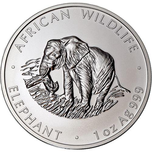 2000 1 Oz Zambian Silver Elephant Coin Bu Monedas 1 Oz
