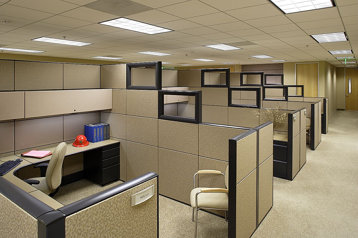 Modern office cubicles design desktops 69688 wallpapers for Modern office designs photos