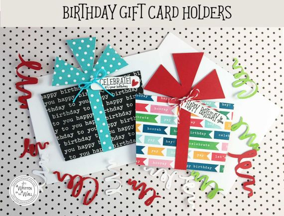 Birthday Gift Card Holder That Looks Like A Present Super Simple To Assemble KIT
